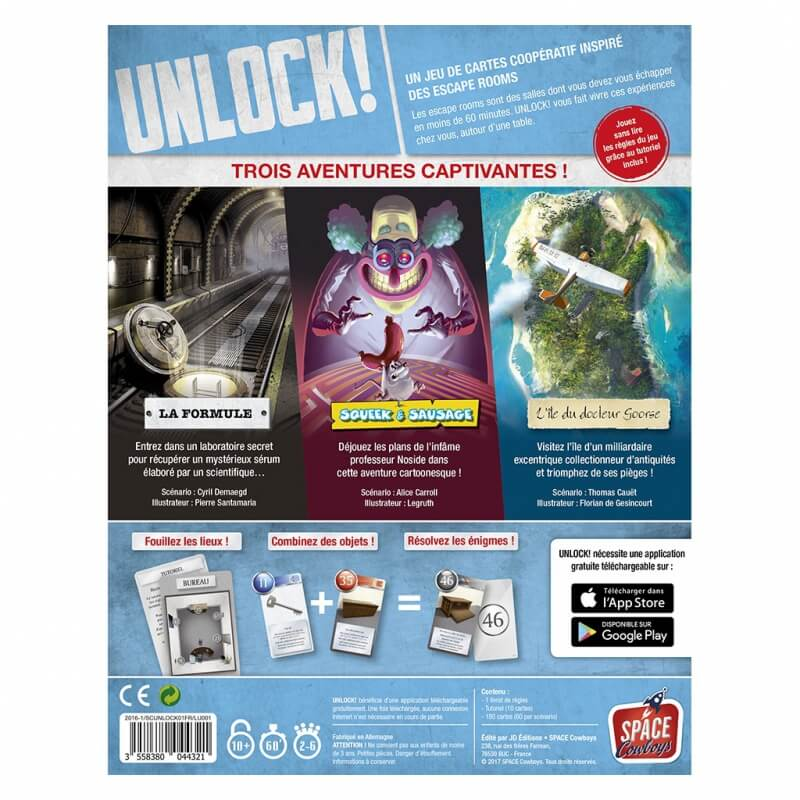 regle jeu unlock escape adventures